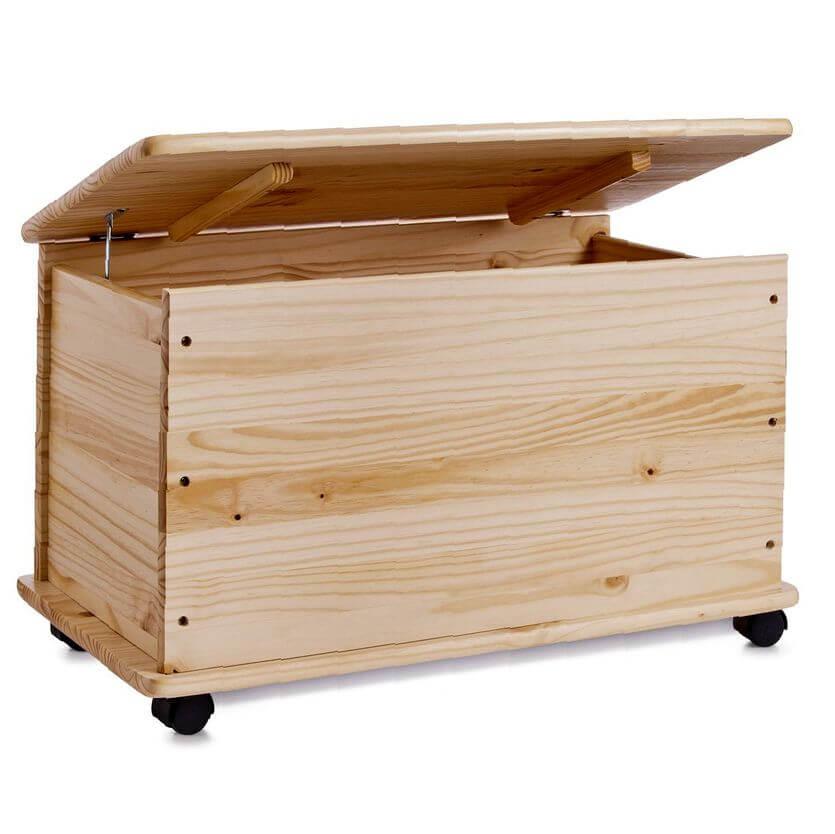 baul madera ruedas