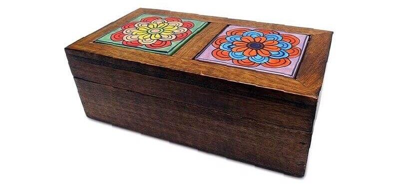 caja madera india